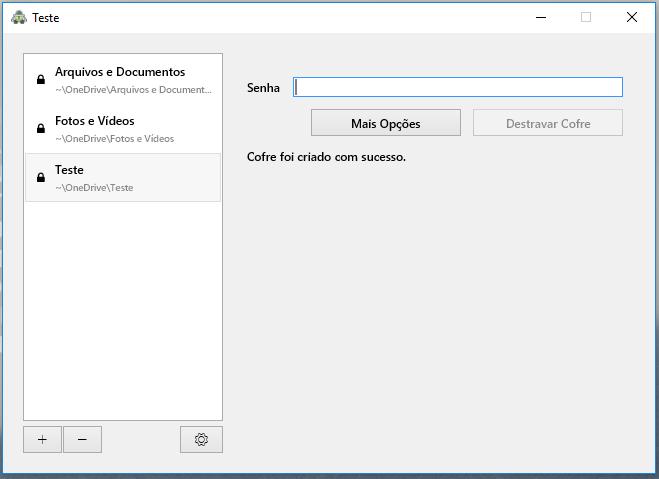 Configuração da pasta criptografada passo 3