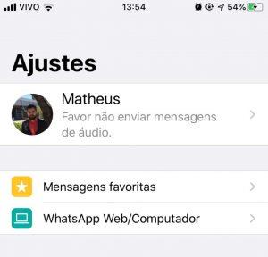 Mensagem não enviar áudio no whatsapp